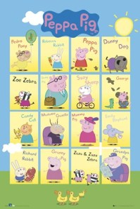 lgfp2345+character-collage-peppa-pig-poster
