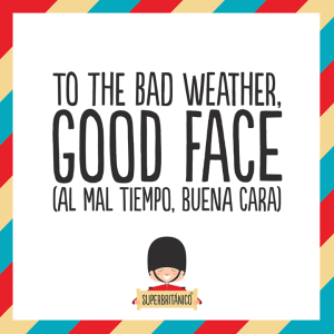 To the bad weather